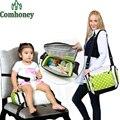 Cadeira de Alimentação do bebê Infantil Cadeira de Assento Do Bebê Portátil Multifuncional Saco Múmia Saco de Fraldas Fralda Criança Segura Assento Dobrável
