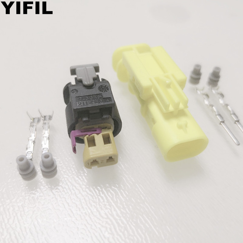 10sets lot 2 Pin Way Female And Male Side Impact Sensor Plug Injector Auto Connector For