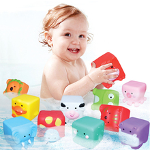 12Pcs/set Baby Grasp Toy Squeeze Bath Balls 3D Animals Touch Hand Soft Floating Rubber Catching Strength Training Toys