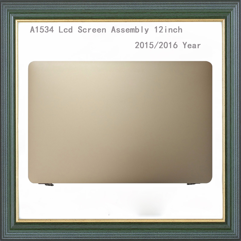 100% Brand New Gold A1534 LCD Screen Assembly for MacBook Pro A1534 12 LCD Display Assembly 2015 2016 Year image