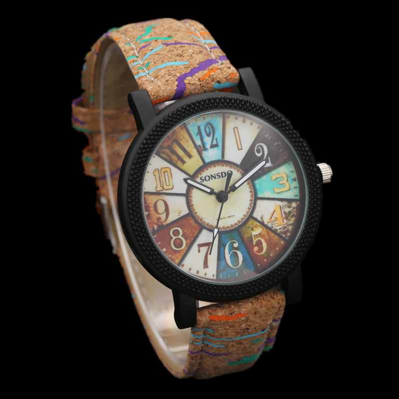 Women Watch Clock Turntable Lovers' Reloj Fashion Mujer Wooden Madera Hombre Men's