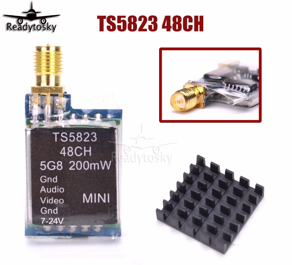TS5823 Mini FPV Tx Only 7.3g 5.8Ghz 48Ch 200mW AV Transmitter Module (TX) TS5823/ RP-SMA ts5823 5 8g 200mw 32ch mini wireless transmitter for fpv black page 9