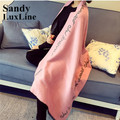 2016 NEW Winter Scarf Women Blanket Scarf Pink Black Maroon Grey Letters Shawls And Scarves Echarpes Foulards Femme Hot Sale 020