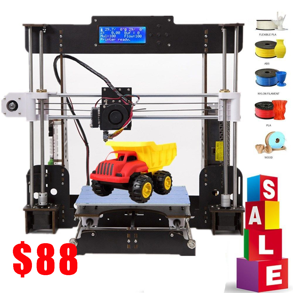 3D Printer A8 Drucker 3d Prusa i3 Reprap  Heatbed 220*220*240MM Impresora 3d Power Failure Resume Printing|3D Printers|   - title=