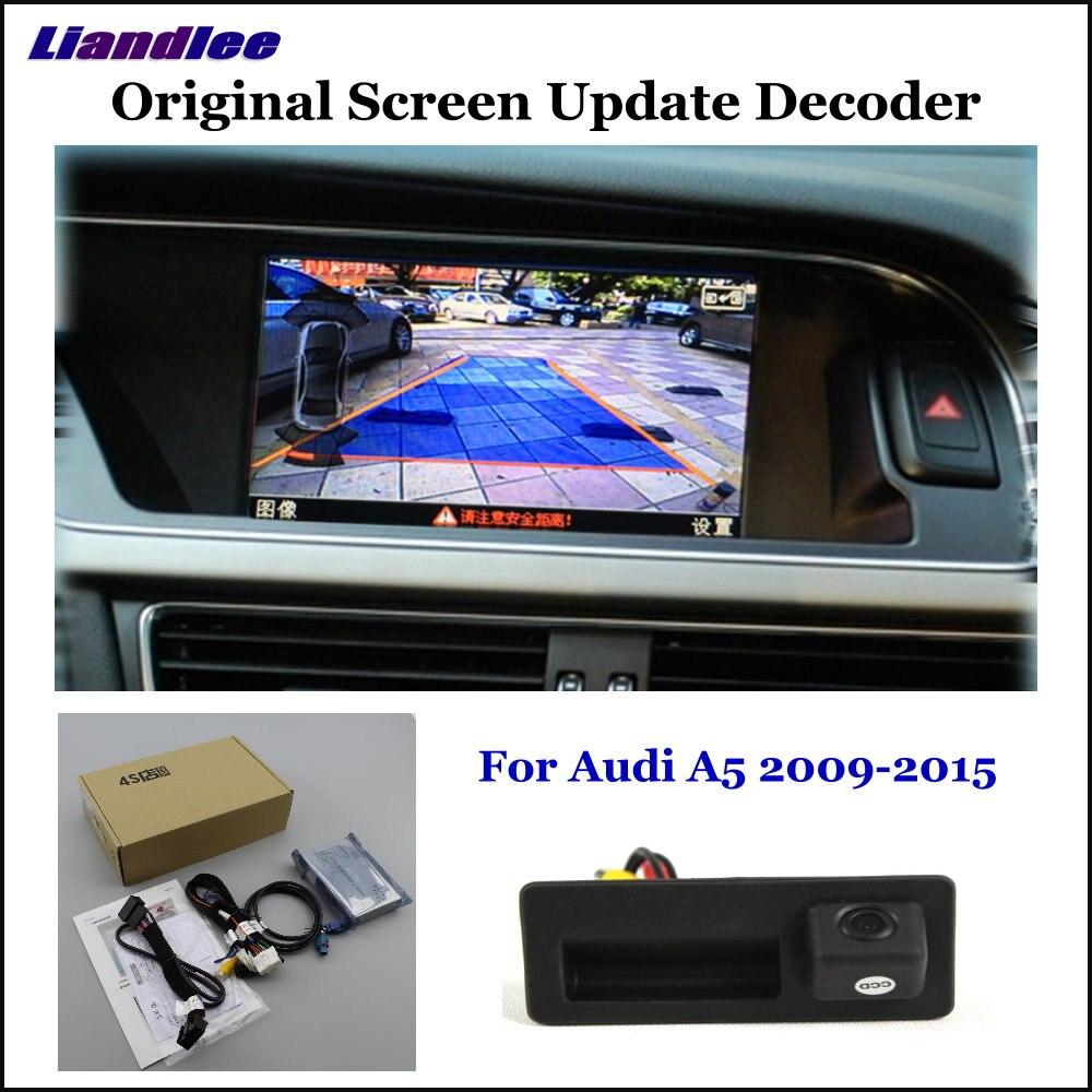 Système de mise à jour d'écran d'origine de voiture Liandlee pour Audi A5 8 T/F5 (haut) arrière caméra de stationnement arrière décodeur numérique Plus