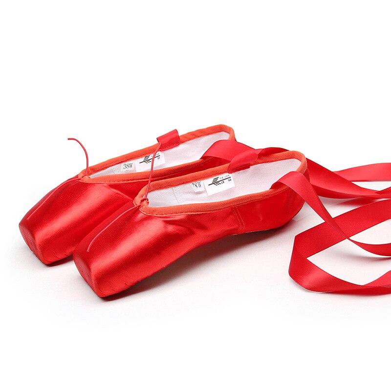 Top SaleRibbon Dancing-Shoes Flower' Satin Secret Pink Pointe Girls Women's Professional