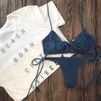 Cssayavi Swimwear Bandage Bikini Sexy Beach Swimwear Women Swimsuit Bathing Suit Brazilian Bikini Set Biquini Maillot