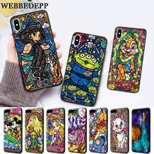 WEBBEDEPP fairy tale Happy Park Silicone soft Case for iPhone 5 SE 5S 6 6S Plus 7 8 11 Pro X XS Max XR
