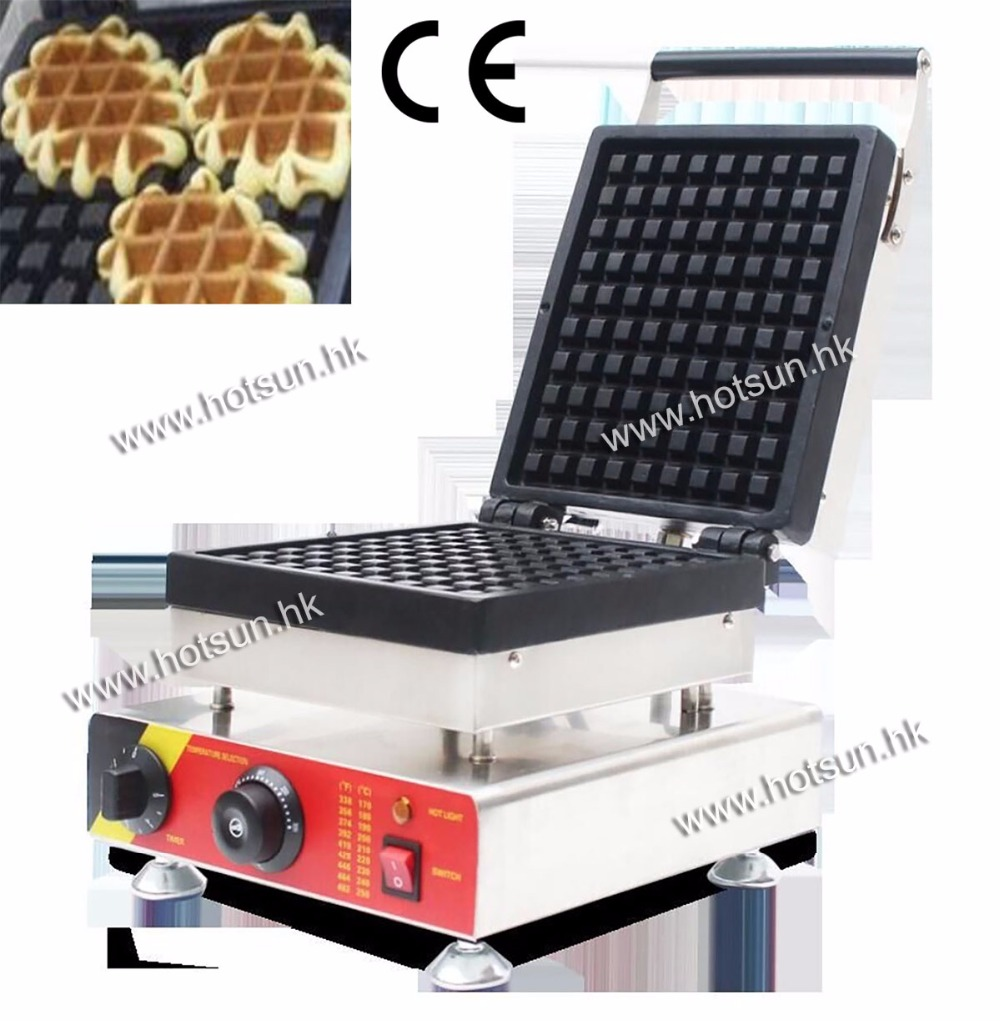 Commecial Use Non-stick 110v 220v Electric Belgium Liege Waffle Iron Baker Maker Machine free shipping commercial use non stick 110v 220v electric 8pcs square belgian belgium waffle maker iron machine baker