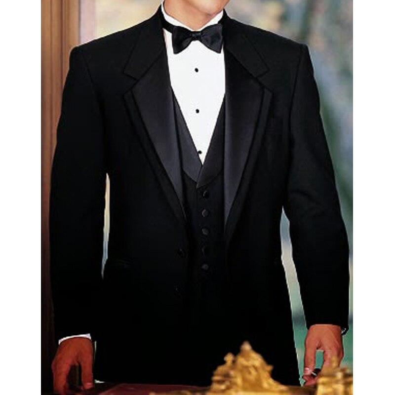 Visgraat Wol Grey Men Suits Voor Formele Zakelijke Bruidegom Bruiloft Smoking 3 Stuk Tweed Man Set Jacket Vest met Broek - 2