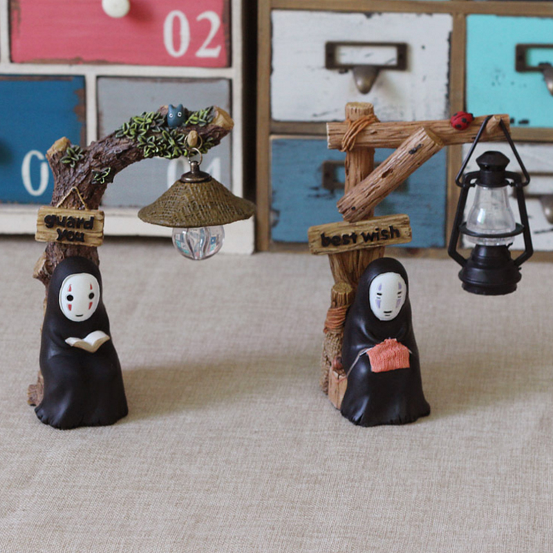 Home Decor Careful No Face Male Resin Night Lamp Craft Mini Miniature Garden Decor Ornament No Face Boy Resin Figurines Creative Night Lamp Reputation First Figurines & Miniatures