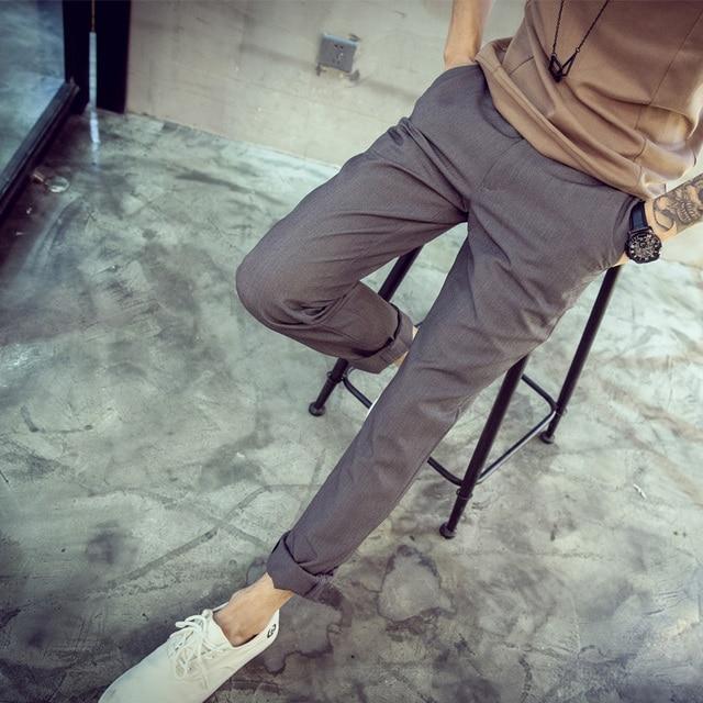 Plaid Men Pants 2017 New Summer Spring Causal Fashion Brand  Western style Pants Men Slim Pants For Men Trousers
