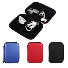 Portable USB Cable Earphone Storage Bag Large Capacity Digital Gadget Devices Data Line Bank Card Bag