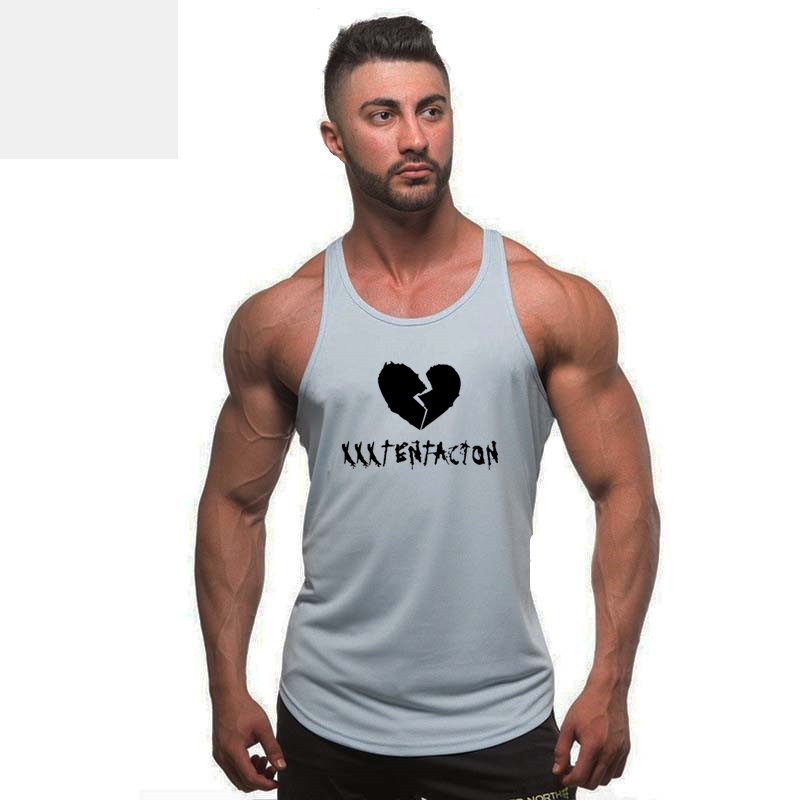 2018 Men Summer gyms vest bodybuilding clothing and fitness men undershirt solid tank tops blank men undershirt