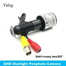 1080 P полный цвет ночное видение дверь глаз CCTV AHD мини домашний видео глазок камера SONY307 2MP StarLight 0,0001 Lux 170 градусов Cam