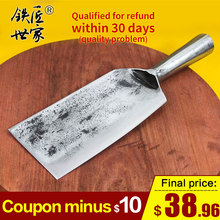 Chopping knife stainless steel handmade forged multi-functional outdoor cleaver chopping bone fish meat нож