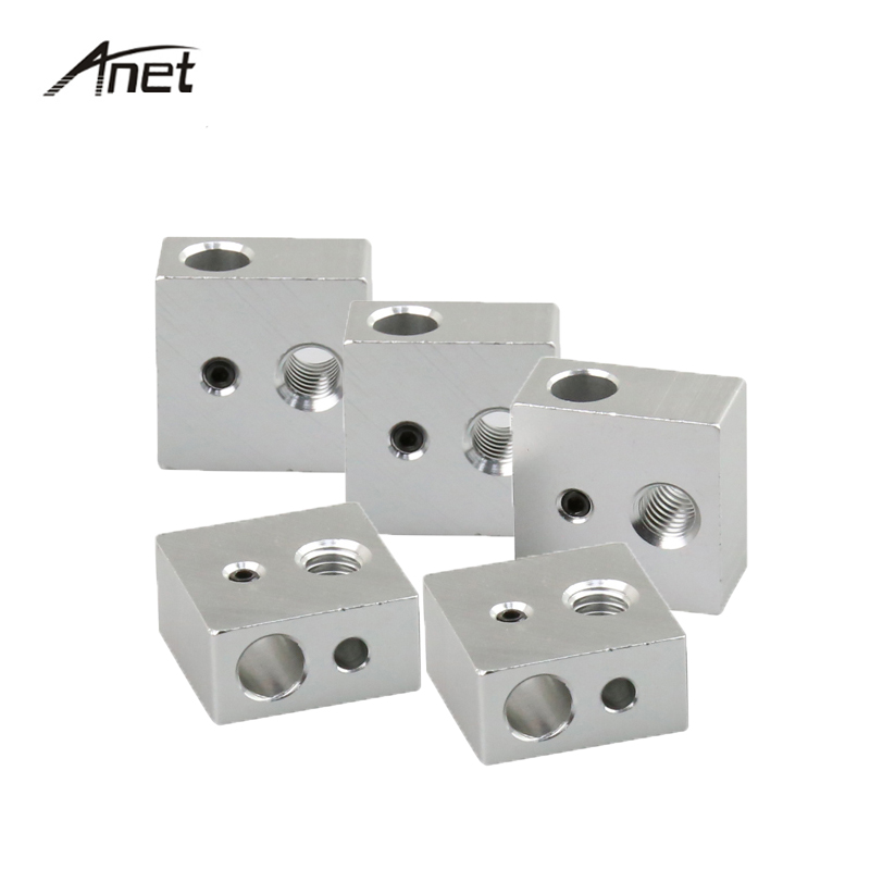 10PCS Lot Extruder Heating Block 20 20 10mm Hot End Heating Head Specialized for MK7 MK8