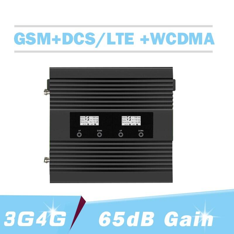 Répétnet 2G 3G 4G 900 1800 2100 amplificateur de Signal de téléphone portable Tri-bande 3G 4G LTE réseau GSM WCDMA DCS amplificateur de répéteur de Signal