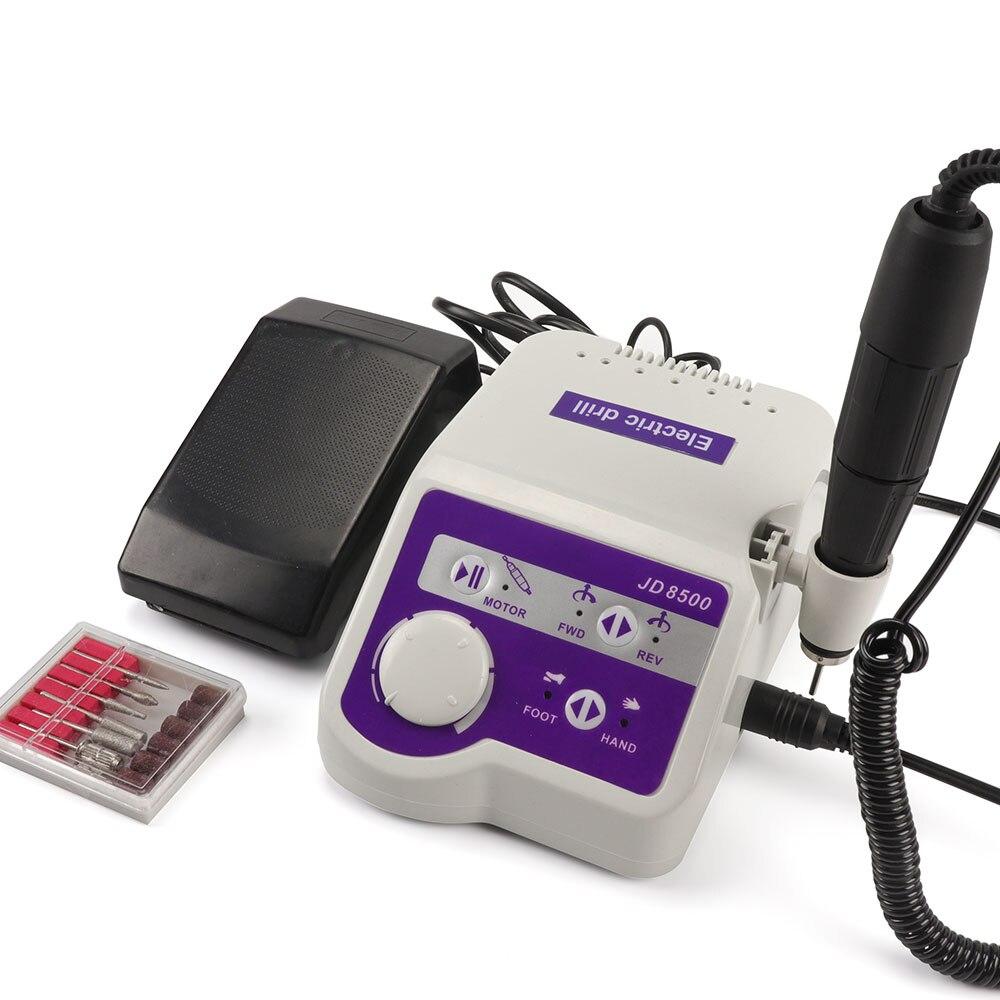 Güzellik ve Sağlık'ten Elektrikli Manikür Matkaplar ve Aksesuarları'de Fabrika Profesyoneller JSDA JD8500 Elektrikli Tırnak Matkap Manikür Makinesi Aracı Pedikür Parlatıcı Çivi Sanat Ekipmanları 65 W 35000 RPM'da  Grup 1