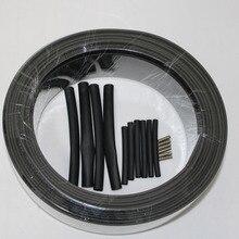 220 В огнеупорный Тип нагревательный кабель ширина 8 мм самонастраиваемый температура водопровод защита кровельный Теплоизоляционный кабель