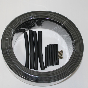220V Flame retardant type heating cable Width 8mm Self regulat temperature Water pipe protection Roof deicing Heating cable 600w 32m twin core heating cable for power saving soil heating protection system wholesale hc2 18 600