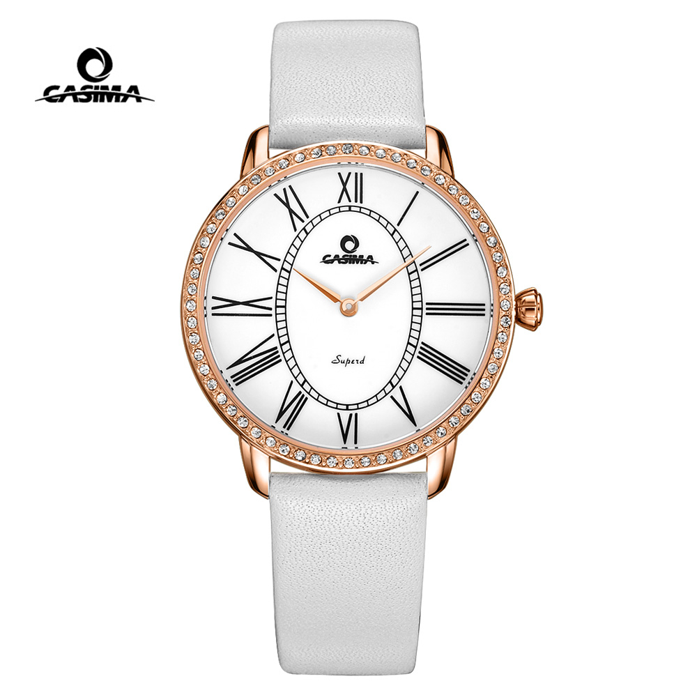 CASIMA Luxury Brand Women Watches Fashion Gold Silver Quartz Wrist Watch Waterproof Leather Ladies Watch Clock Relogio Feminino luxury brand watches waterproof leather bracelet ladies quartz wrist watch clock women female hours gold silver relogio feminino