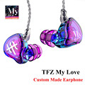 2016 TFZ SERIES 1S My Love Customized Earphone High Definition Dynamic Hi Fi Headset 3.5mm in ear Headphone Silver Plated Cable