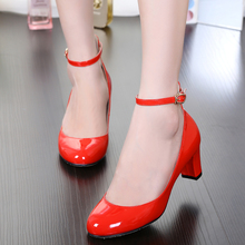 Full Season Square Heel Shoes Woman Wedding Work Sandals 5CM Women Pumps Brand Design Round Toe High Heels Free Shpping