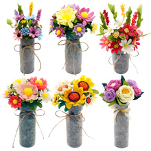 Handmade Felt Flowers Mothers Day Girlfriend Gift Toy Fake Flower Kit DIY Craft Imitation Decoration Material