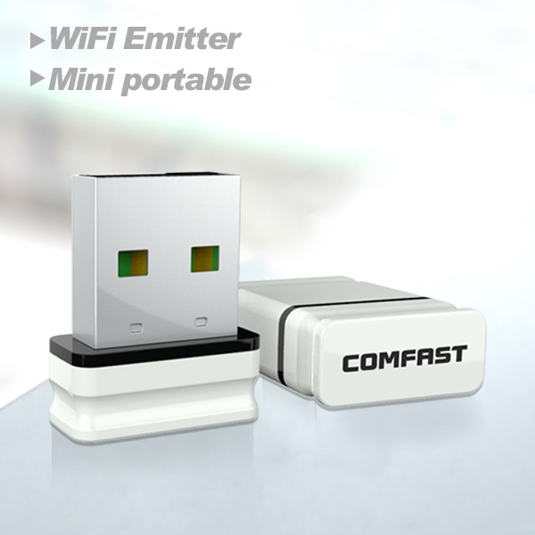 2pcs Comfast Adaptador Wi-fi CF-WU810N Receptor Wifi Usb Wi-fi Adapter Wifi Access Point  RTL8188EU Chipset Wireless Wifi Dongle