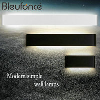 14W Modern Minimalist LED Aluminum Wall Lamp Living Room Bedroom Bedside Lamp Aisle Wall Lamp Bathroom