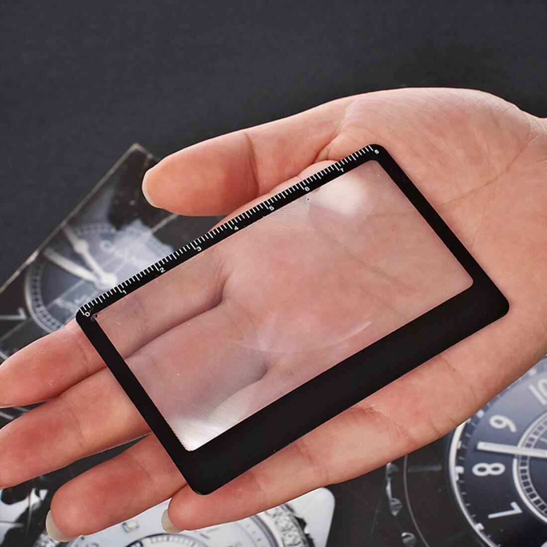 1 PCS Credit Card 3 X Magnifier Magnification Magnifying Fresnel LENS