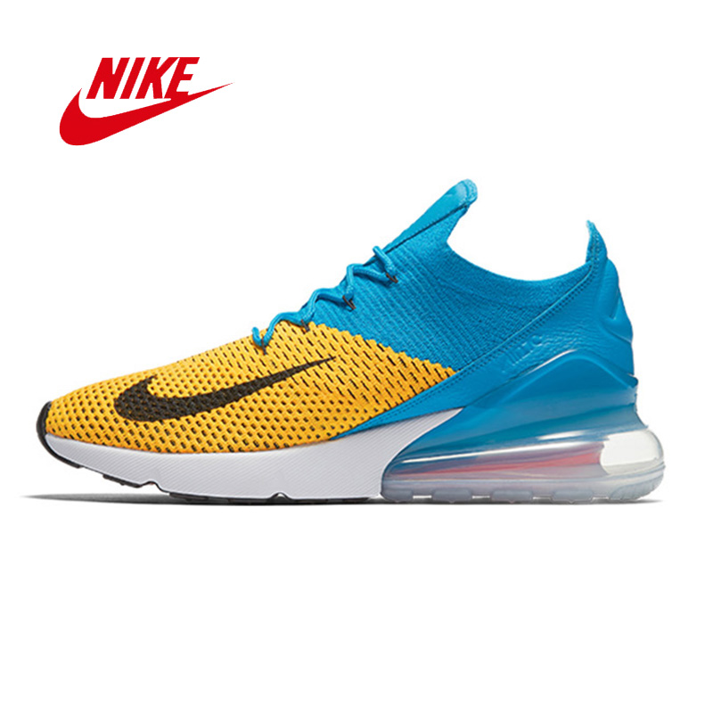 Official New pattern 2018 NIKE AIR MAX 270 FLYKNIT Men's Running Shoes Sneakers for men breathable damping Shoes