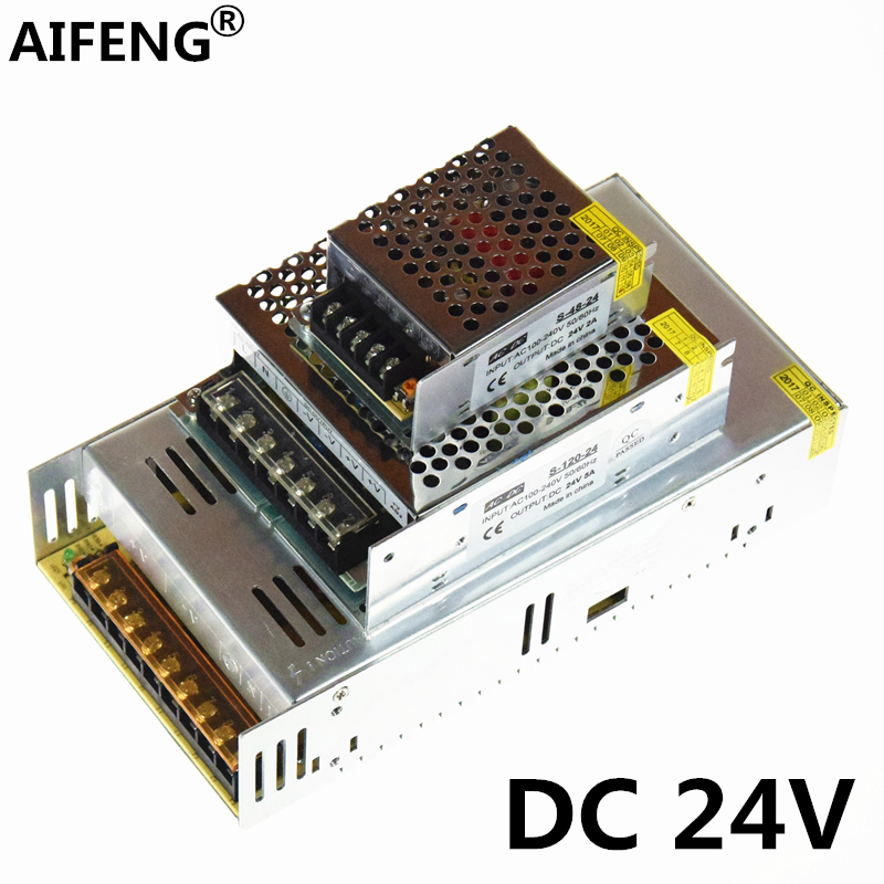 AIFENG DC 24V power supply adapte 110V/220V to 24V transformer 1A 2A 3A 5A 15A 25A dc 24V led switching power supply led driver aifeng dc 24v switching power supply 1a 2a 3a 5a 15a 25a power supply switching power ac 110v 220v to dc 24v for led strip light