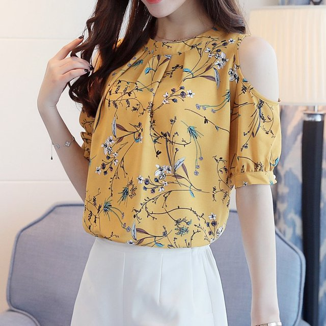 Elegant Open Shoulder Blouses