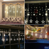8 Mode 2M Christmas Lights Fairy Star LED Curtain String Lighting For Holiday Garland Party Wedding