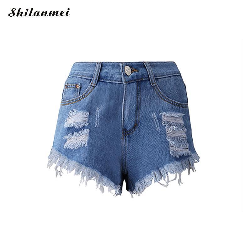 Denim Jeans   Shorts   femme high waisted   shorts   for women Miracle Tassel frayed   short   3XL 2XL XL summer fitness jean   shorts