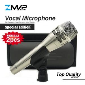 Image 1 - 2 pièces/lot édition spéciale KSM8 micro filaire dynamique cardioïde professionnel KSM8N micro pour scène de karaoké de chant en direct de Performance