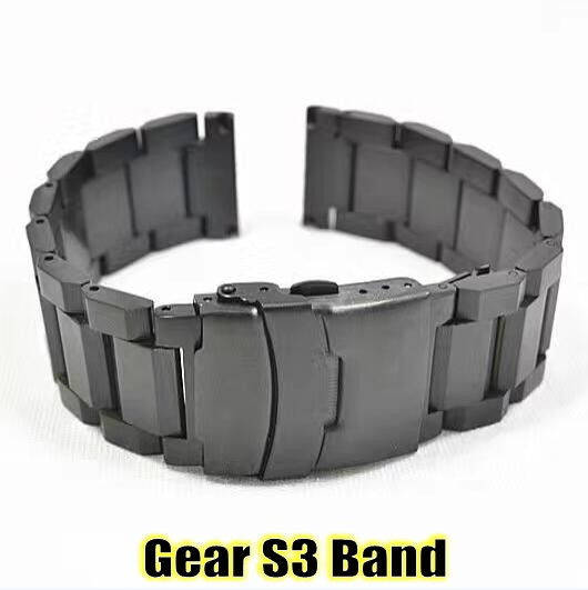 gear s3 frontier classic watch band 22mm folding buckle stainless steel metal replacement. Black Bedroom Furniture Sets. Home Design Ideas