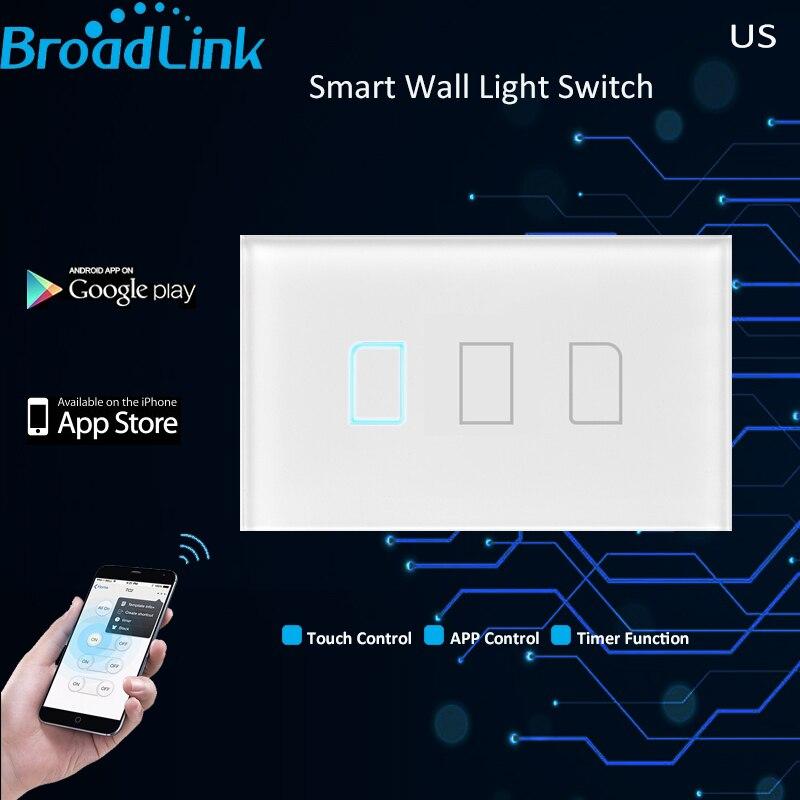 Broadlink TC2 АС США 3 банды умный дом автоматизации телефона удаленного беспроводного управления переключатель свет лампы по Broadlink RM Pro