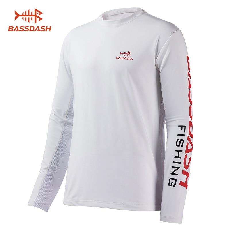 Bassdash Men's UV Sun Protection UPF 50+ Fishing Shirts Long Sleeve Tee