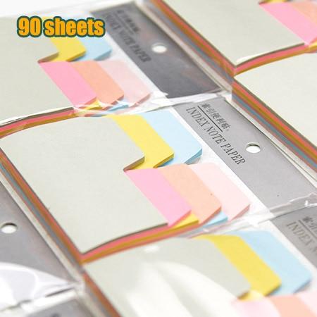 90 sheets paper cute kawaii bookmark memo tabs stick marker sticky