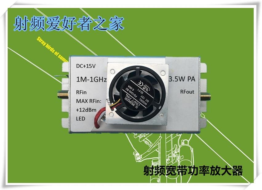 1M-1000MHz 3.5W Power Amplifier HF FM VHF UHF FM Broadband RF Power Amplifier new arrival 15w rf power amplifier fm amplifier fm radio module 87 108mhz with heatsink