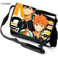 Hight Quality Haikyuu Hinata Syouyou Cartoon Cosplay Messenger Bag for Teenagers Anime Cross Body Handbag for Students