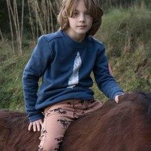 Bobozone Autumn Winter Feather Fox hoodies thick kids clothing sport children's clothing Yebaby store