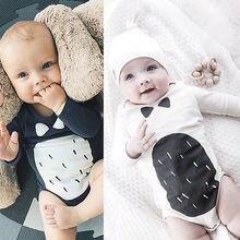 2016 New Arrival 2pcs Newborn Baby Kids Boys Girls Bodysuit Jumpsuit Outfits Set Costume