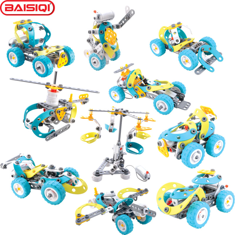 10 IN 1 intelligent Assembly tool set Truck Robert Plane model Creative science DIY toy Building block kit for pupil Xmas Gift new phoenix 11207 b777 300er pk gii 1 400 skyteam aviation indonesia commercial jetliners plane model hobby