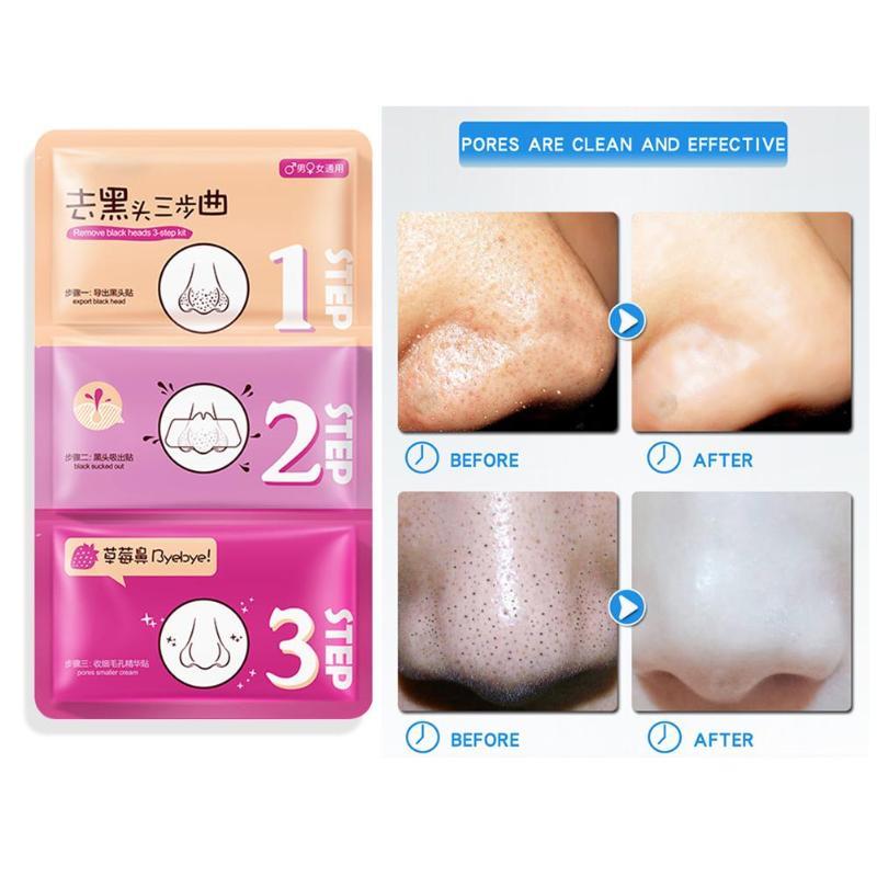 Remove Blackhead 3 Steps T Area Care Deep Clean Pores Blackhead Nose Patch
