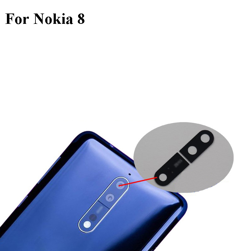 1PCS for <font><b>Nokia</b></font> 8 TA1004 TA1052 <font><b>TA</b></font>-<font><b>1004</b></font> <font><b>TA</b></font>-1052 Rear Back Camera Glass Lens Cover Replacement Cell Phone Nokia8 Repair Parts image