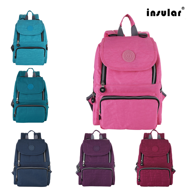 Insular Mummy Maternity Changing Bag Waterproof Nylon Multifunctional Newborn Diaper Backpacks Portable Capacity Nappy